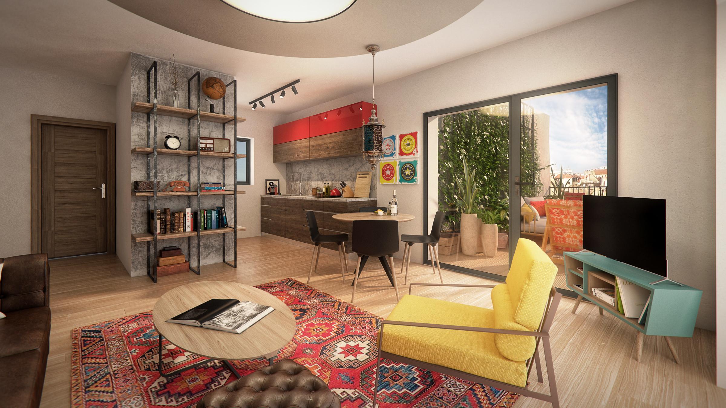Marone House mintalakás. Design: http://www.ettigabbay.com/en