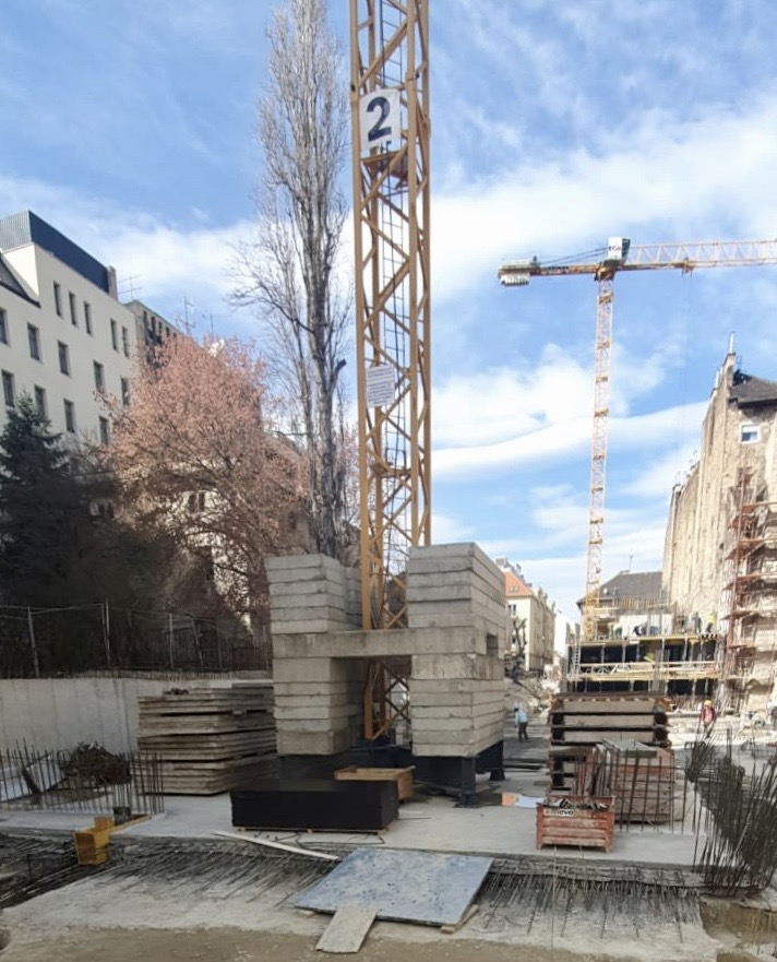 Marone House építkezés 2020. március